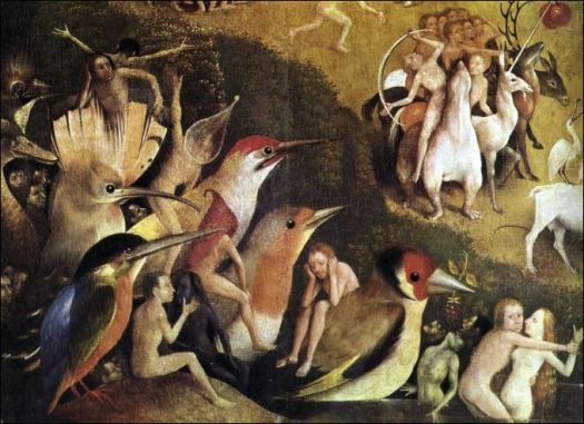 the garden of earthly delights. detail
