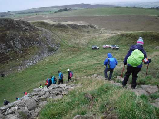 Hadrian's Wall. Day 2. 9 - Down into Sycamore Gap.jpg