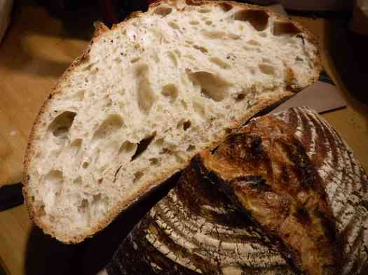Sourdough. the cut and the rise